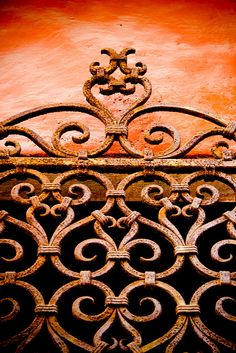 Wrought iron beauty. Venetian Gate to be used as decorative wall panel