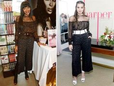 """Celebrity fashion Fashion Faceoff. Who nailed it?     (L) Campbell at the launch of her new book """"Naomi"""" in London on April 19, 2016.  (R) Steinfeld at h"""
