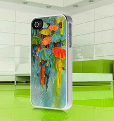 apple iphone case Colorful Umbrella Girl Art  by MuliasCraft, $16.00