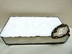 Stunning White Stained Glass Jewelry Box by miloglass on Etsy, $50.00