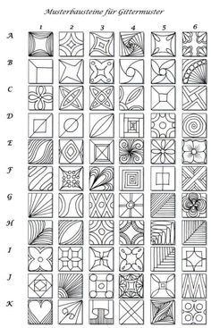 Zentangle patterns f