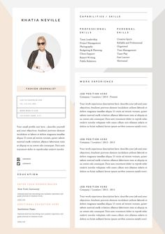 74 best professional resume templates images on pinterest