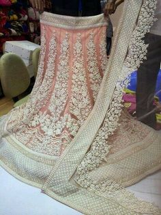 I just love this lehenga....This a high quality imitation of embroidery followed by sabyasachi in many of his designs...