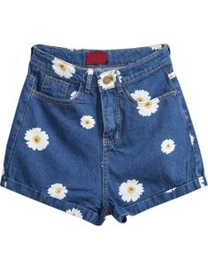 Shop Navy Pockets Daisy Print Denim Shorts online. Sheinside offers Navy Pockets Daisy Print Denim Shorts & more to fit your fashionable needs. Free Shipping Worldwide!