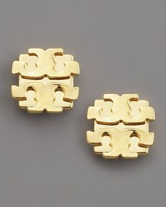 Logo Earrings, Large by Tory Burch at Neiman Marcus.