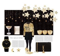 """""""The gold star"""" by agatita1985 ❤ liked on Polyvore featuring Bethany Lowe, STELLA McCARTNEY, DKNY, Oscar de la Renta, Yves Saint Laurent, Erica Weiner and Larsson & Jennings"""