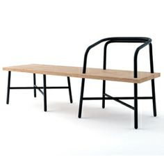 Sam Hecht's 'Table, Bench, Chair'  for Luminaire. Three versions of  the elegant 'Table, Bench, Chair' are available; a chair, bench and love seat.