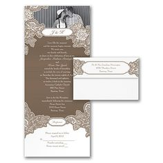 Romantic Details - Seal 'n Send Invitation  |  40% OFF  |  http://mediaplus.carlsoncraft.com/Wedding/Wedding-Invitations/3254-TWS27007-Romantic-Details--Seal-n-Send-Invitation.pro