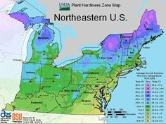 USDA Maps for Growing Zones