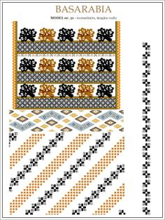 Semne Cusute: iie din BASARABIA - model (31) Folk Embroidery, Embroidery Patterns, Cross Stitch Borders, Cross Stitch Patterns, Wedding Album Design, Handmade Bags, Beading Patterns, Diy Tutorial, Crochet
