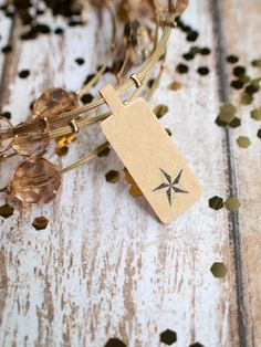 Star price tag sticker label jewelry brown by ctdscraftsupply