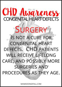 Learn more about Congenital Heart Defects, and ways you can help spread awareness! Atrial Septal Defect, Chd Awareness, Congenital Heart Defect, Medical Information, Close To My Heart, Heart Disease, Pediatrics, Favorite Quotes, The Cure