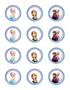 Frozen themed cupcake toppers Free printable PDF @ http://footprintconsultingsbm.blogspot.com/2016/01/featured-client-design-free-frozen.html