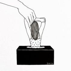 le illustrazioni minimaliste dal tratto femminile e orientale di Henn Kim