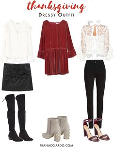 Fancy, festive, chic thanksgiving and holiday outfit ideas