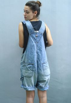 Shop new labels, independent brands & vintage from around the world. Open a boutique to sell your own designs. Baggy Dungarees, Denim Overalls, Overalls Fashion, Overalls Women, Studded Denim, Playsuits, Overall Shorts, Asos, Clothes