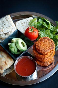 Vegan Barbecue Chickpea Sweet Potato Burgers | The Vegan 8