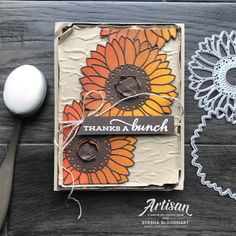 SNEAK PEEK! Blending Brushes from Stampin' Up! Card by Stesha Bloodhart, TGIFC291 thankful Stampin Up, Stampin Pretty, Sunflower Images, Sunflower Cards, Celebration Love, Love Stamps, Card Making Techniques, Fall Cards, Card Maker