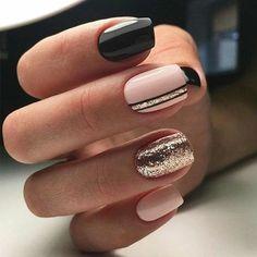 Elegant Nail Designs, Elegant Nails, Classy Nails, Cute Nails, Nail Art Designs, Nails Design, Pretty Nails, Sparkly Nail Designs, Simple Nails