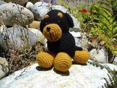 Rottweiler Amigurumi Pattern Printer-Friendly PDF MATERIALS: - size F (3.75 mm) crochet hook - Lion Brand Wool-Ease (less than 1 ske...