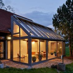 9 beautiful winter garden house extension you dream of – Wohnideen Conservatory Extension, Glass Extension, Extension Ideas, Glass Room, Patio Interior, Interior Design, Garden Architecture, House Extensions, Garden Room Extensions