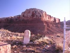 Historic cemetery in Bluff, Utah.  A great place to visit and to view the stars at night.