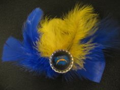 San Diego Chargers Feather Hair Accessory