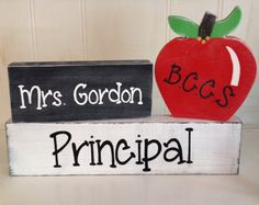Personalized giant pencil teacher desk name plate
