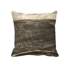 Vintage Pictorial Map of Concord NH (1899) Pillow from Zazzle.com $62.40