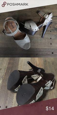 Qupid Platform Heels Worn 2x   Beige straps   No trades 🚫 Qupid Shoes Platforms