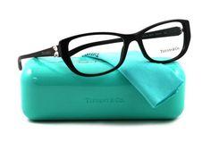6ac05c4e6 Tiffany & Co. Eyeglasses TIF 2044b Black 8001 Tif2044 Usando Óculos,  Bijuterias, Feminino