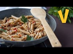 Pasta with Creamy Mushroom Sauce | The Vegan Corner - YouTube