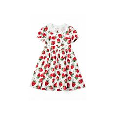 Royal Strawberry OP ❤ liked on Polyvore featuring dresses and strawberry