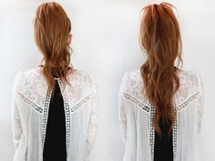 Beauty Inspiration – Ponytail Trick – Get a Longer, Fuller Ponytail | Free People Blog #freepeople