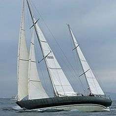 """Pen Duick VI"" with reefed mainsail"