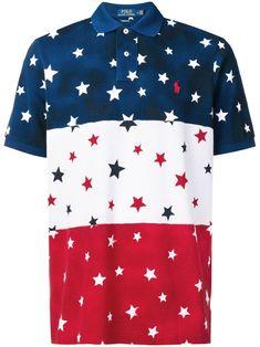 Polo Ralph Lauren Star Printed Polo Shirt In Blue Ralph Lauren Store, Polo Ralph Lauren, Ralph Lauren Collection, Printed Polo Shirts, Polo Jeans, Camisa Polo, Star Print, Timeless Fashion, Menswear