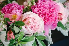 Can't get enough of the #Pink #Flowers in this wedding! http://stylemepretty.com/2013/11/08/cayucos-wedding-from-we-heart-photography | Photography: We Heart Photography