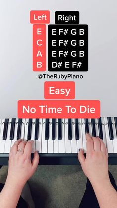therubypiano ( has created a short video on TikTok with music original sound. No Time To Die by Billie Eilish Piano Tutorial Piano Sheet Music Letters, Piano Music Easy, Piano Music Notes, Billie Eilish, Piano Scales Chart, Keyboard Sheet Music, Song Notes, Keyboard Lessons, Ukulele Chords Songs