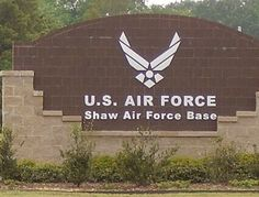 Shaw Air Force Base, Sumter, South Carolina. Just down the road from where my husband and I met 29 years ago. <3