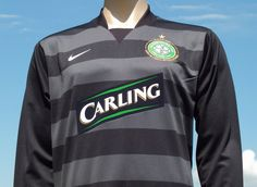 Celtic F.C. 2007-2008 Hooped Goalkeeper Shirt Lisbon 40th Anniversary Domestic Style Player Issue