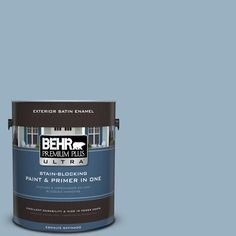 BEHR Premium Plus Ultra 1-gal. #ecc-32-1 Cloudless Day Satin Enamel Exterior Paint