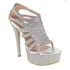 REDUCED $! Retail $90! Chinese Laundry Silver Glitter Platform Sandals! New in box! Size 9.5M. For sale on Poshmark under username dhannon1120
