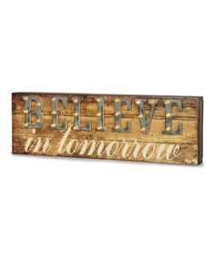 'Believe' Marquee Sign #zulily #zulilyfinds