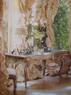 Gorgeous antique French desk | Dream in Cream ᘡղbᘠ