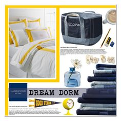 """""""Design Your Dream Dorm with Lands' End: Contest Entry"""" by asteroid467 ❤ liked on Polyvore featuring interior, interiors, interior design, home, home decor, interior decorating, Lands' End, Torre & Tagus, Newgate and Dot & Bo"""