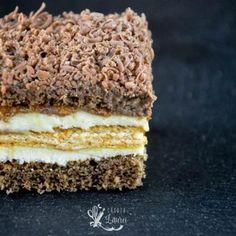Cookie Desserts, Cookie Recipes, Dessert Recipes, Romanian Desserts, Cream Cake, Yummy Cakes, Sweet Treats, Bakery, Deserts