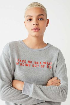 Project Social T Out Of Bed Long Sleeve Tee   Urban Outfitters
