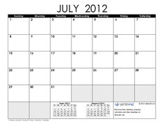 Free Full Page Monthly Calendar | Free 2012 Calendar Images and 2012 Calendar Templates
