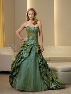 Ball gown Taffeta and Tulle Mock-wrap Ruched Bodice Softly Curved Neckline Mother of the Bride Dress