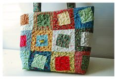 ZANY Patchwork Quilt Bag Modern Rag squares Diaper by hoganfe,on Etsy